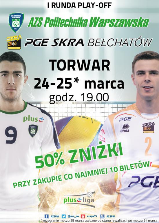 AZS Politechnika Warszawska - PGE Skra Bełchatów - zgarnij bilety na mecz !