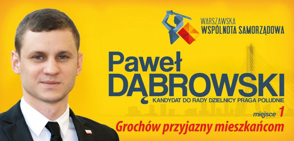 Startuję w wyborach do rady dzielnicy Praga Południe z Grochowa