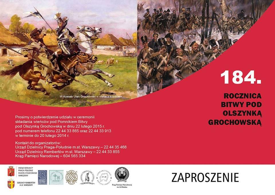 184 rocznica Bitwy pod Olszynką Grochowską